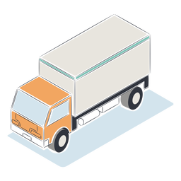 White truck isometric