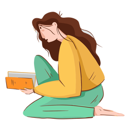 Woman reading character