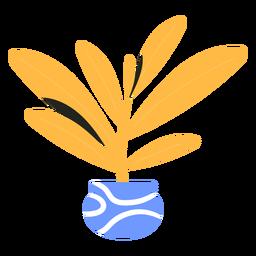 Planta de interior amarilla plana
