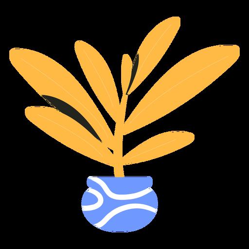 Yellow houseplant flat Transparent PNG
