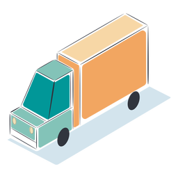 Yellow truck isometric