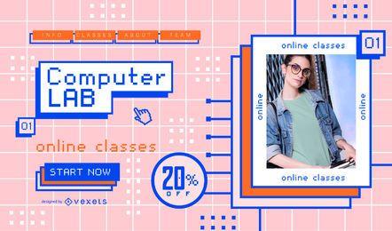 Design de controle deslizante de aulas on-line para computador