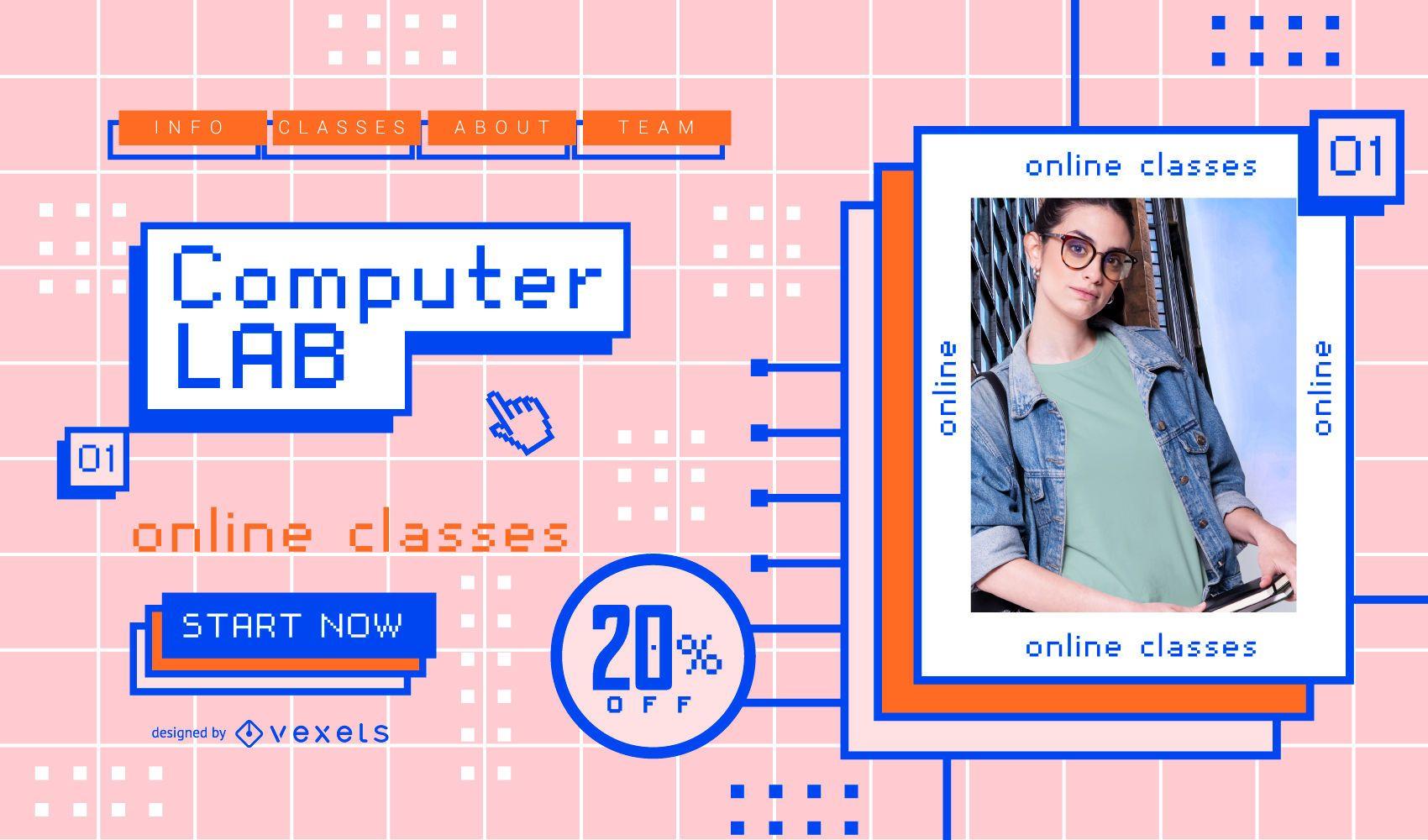Computer Online Classes Slider Design
