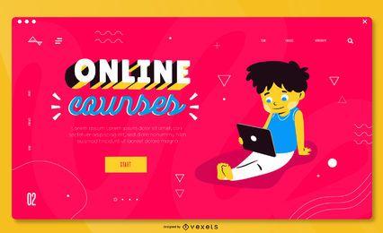Modelo de página de destino educacional colorido