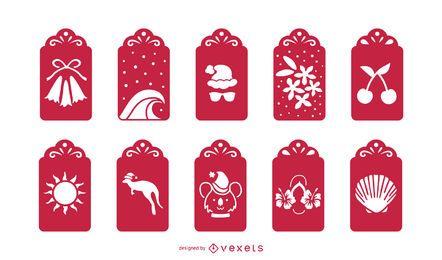 Paquete de tarjetas navideñas australianas