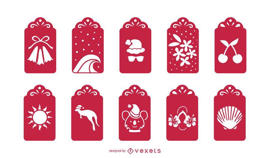 Paquete Australiano de Tarjetas de Navidad