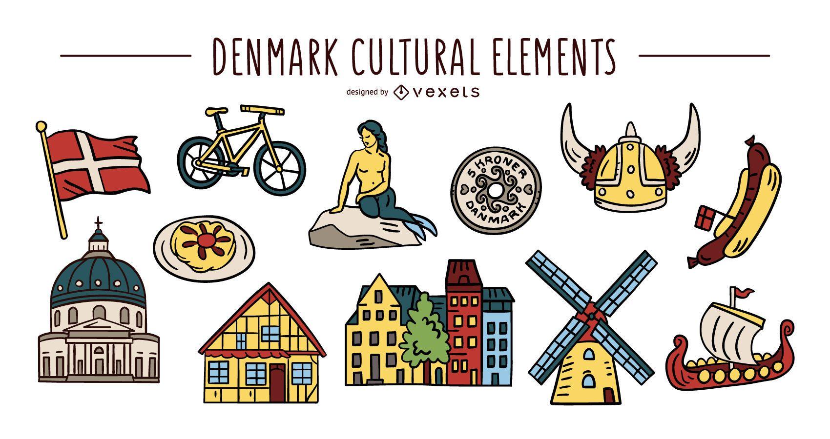 Denmark cultural elements set