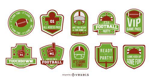 Coleção de distintivos de futebol