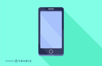 Diseño de teléfono inteligente plana larga sombra