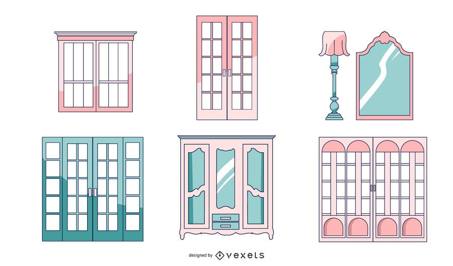 French Architecture Doors Pack