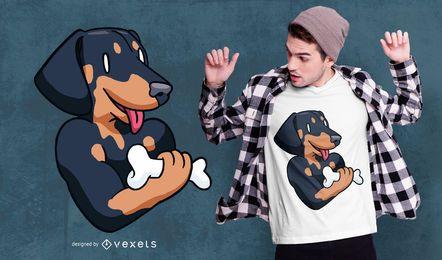 Bonelifter Dachshund T-shirt Design