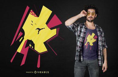 Design de t-shirt de corredor de Parkour