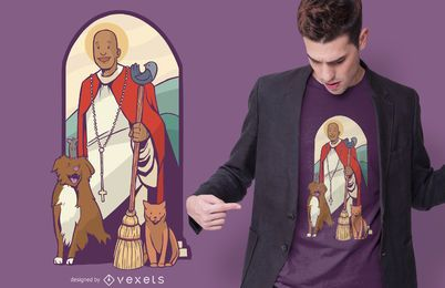 Diseño de camiseta St. Martin de Porres