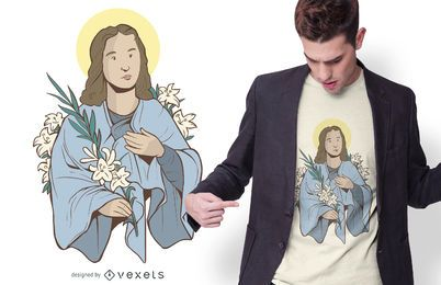 Saint Goretti T-shirt Design