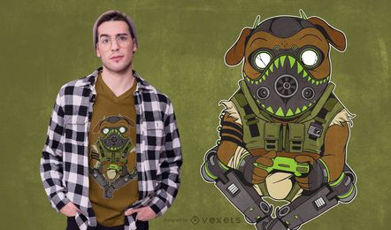 Design do t-shirt da paródia do Pug Octane