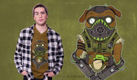 Design do t-shirt da paródia do Pug Octane