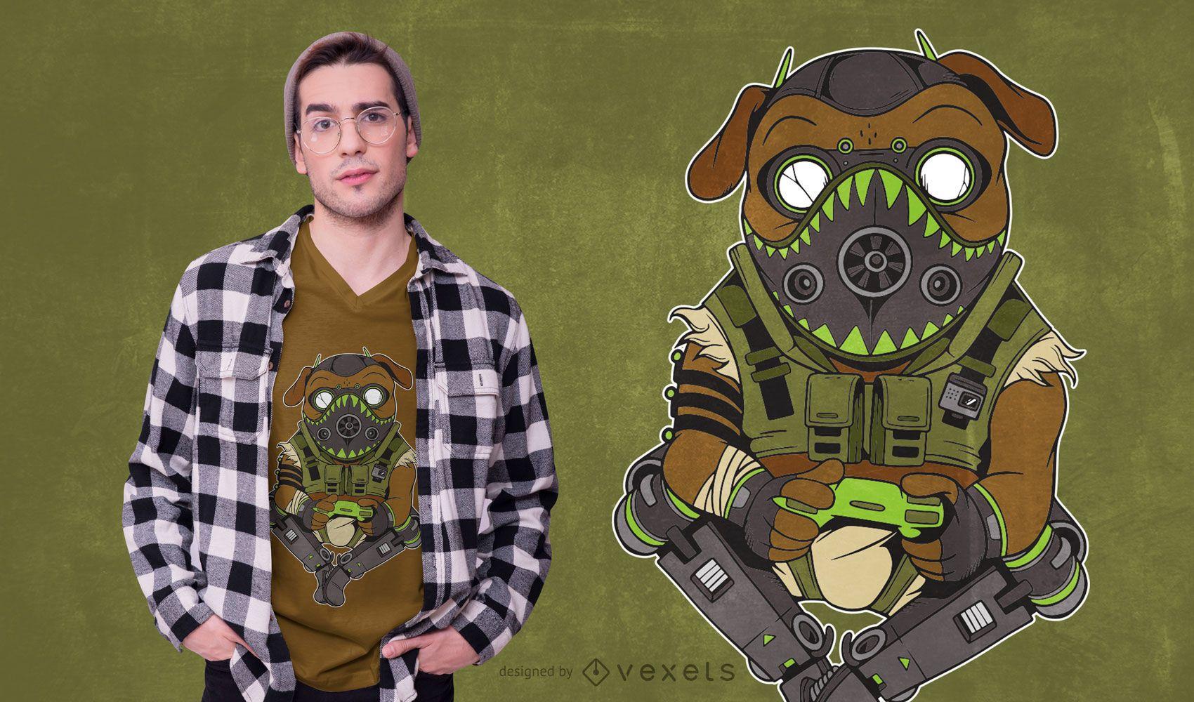 Pug Octane Parody T-shirt Design