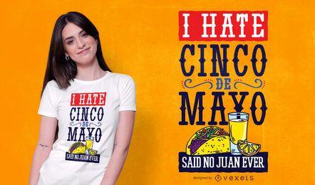 Cinco de Mayo Design de t-shirt com texto engraçado