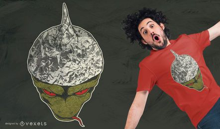 Design de t-shirt de chapéu de papel alumínio reptiliano