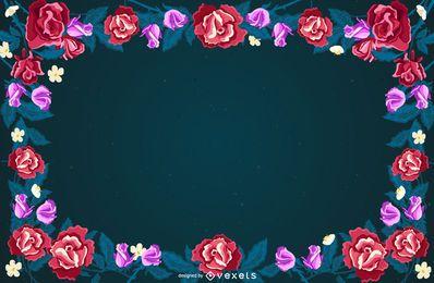 Design de fundo de quadro floral