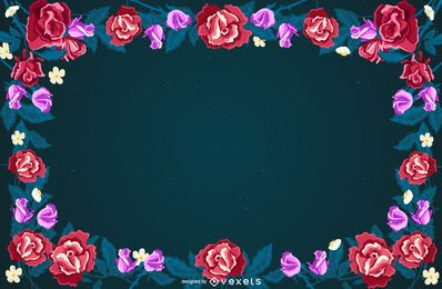 Floral Frame Background Design