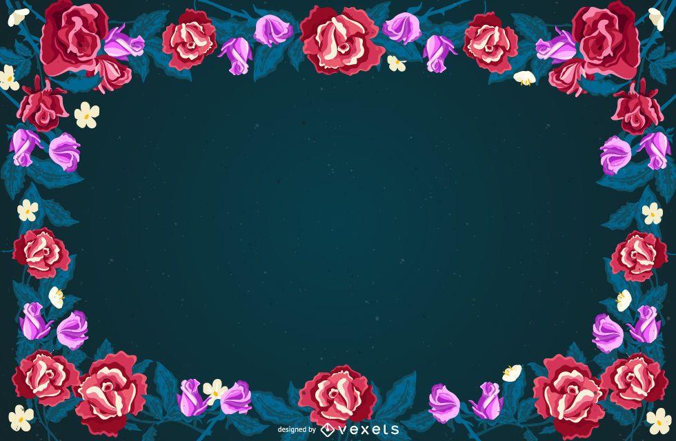 Floral Frame Background Design