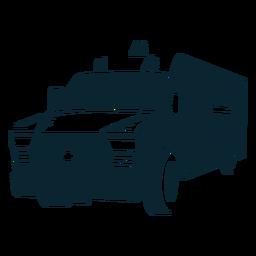 Carro grande monocromático de ambulância