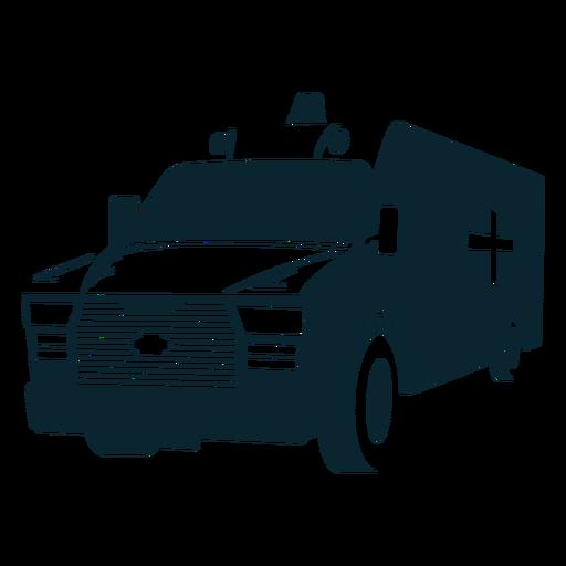 Coche grande monocromo de ambulancia Transparent PNG