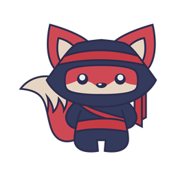 Animal fox ninja color