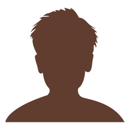 Avatar anônimo menino cabelo curto e selvagem