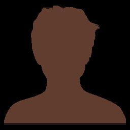 Anonymer Avatar-Junge zerzauste Haare