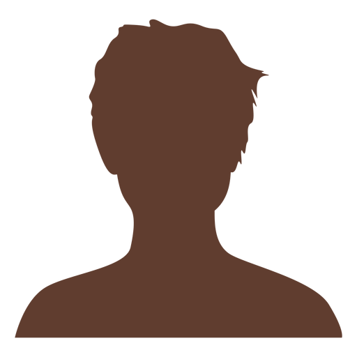 Anonymous avatar boy tousled hair Transparent PNG