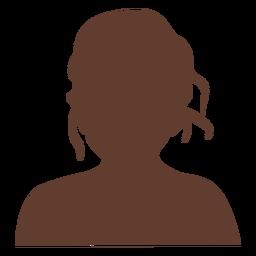 Chica anónima avatar cabello despeinado