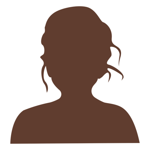 Anonymous avatar girl tousled hair Transparent PNG