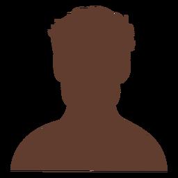 Anonymous avatar man short curly hair