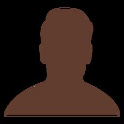 Anonymous avatar man short undercut hair