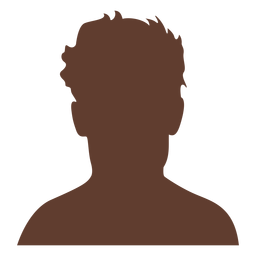 Anonymous avatar man short wild hair