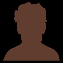 Anonymous avatar man short wild hair