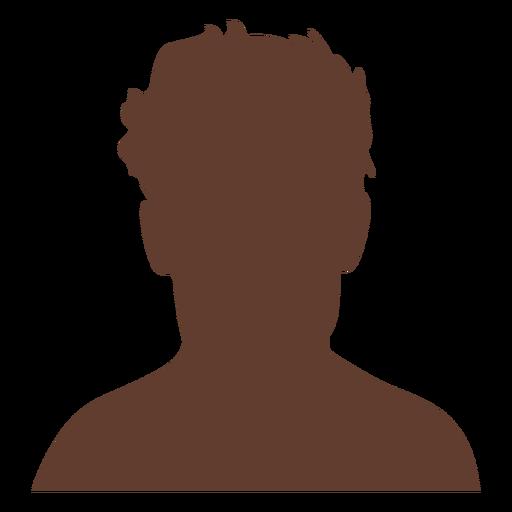 Anonymous avatar man short wild hair Transparent PNG