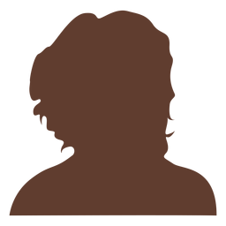 Anonymous avatar woman curly hair