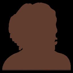 Anonymous avatar woman curly hair