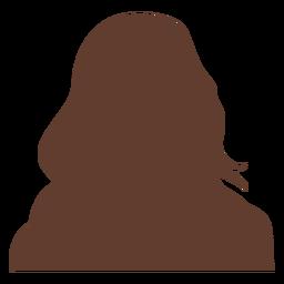 Avatar anônimo mulher cabelos longos