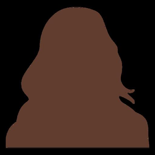Anonymous avatar woman long hair Transparent PNG
