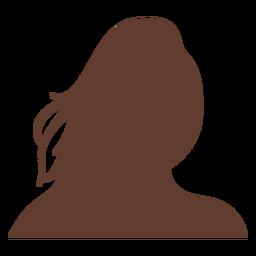 Anonymous avatar woman long wild hair