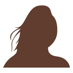 Mulher de avatar anônimo cabelo longo selvagem