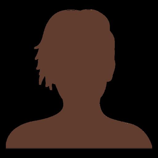 Anonymous avatar woman short hair Transparent PNG