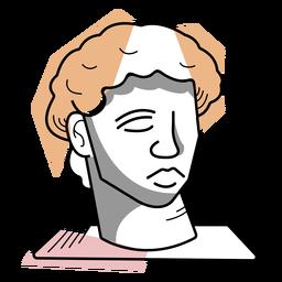 Artista busto escultura trazo