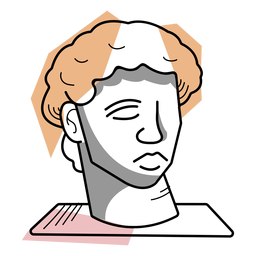 Traço de escultura de busto de artista