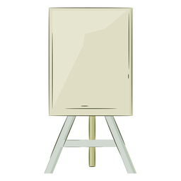 Artist easel color