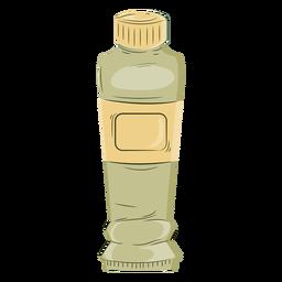Color del tubo de pintura verde del artista